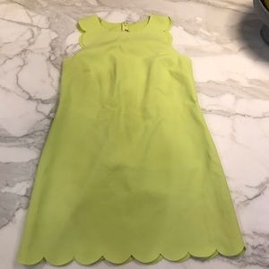 Jcrew Scalloped Mini Dress